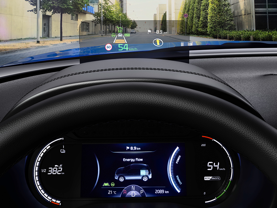 Kia e-Souls headup-display