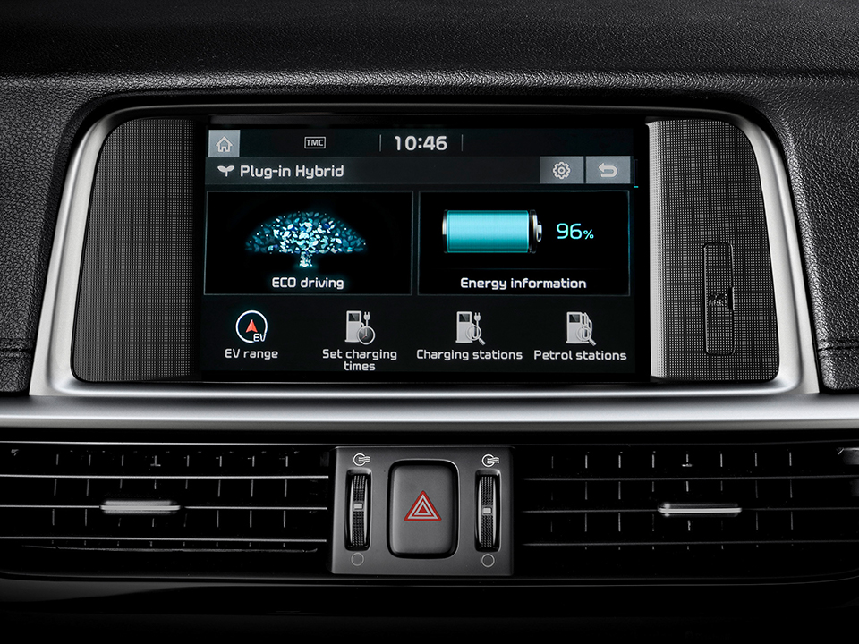 Kia Optima Stasjonsvogn Plug-in Hybrid display