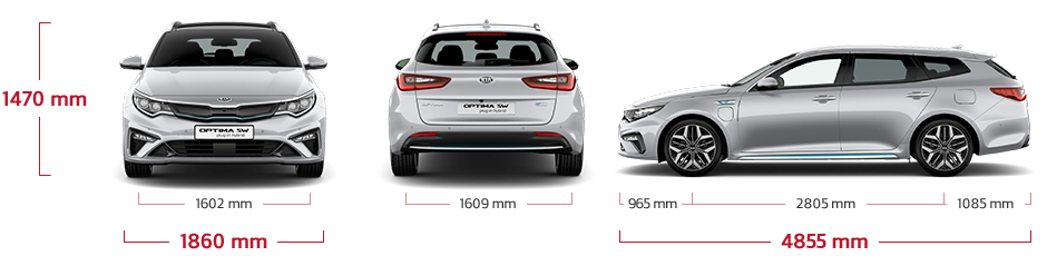 Kia Optima Sportswagon Plug-in Hybrid dimensions